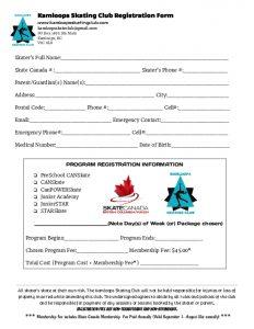 thumbnail of Kamloops Skating Club Registration Form
