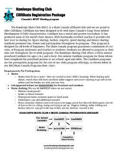 thumbnail of PreSchool CanSkate CanSkate Registration Package